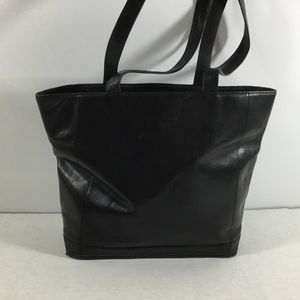Cole Haan Black Leather Bucket Purse